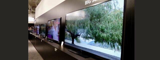 Sharp 90 Zoll LED-TV und 60 Zoll 4K Fernseher