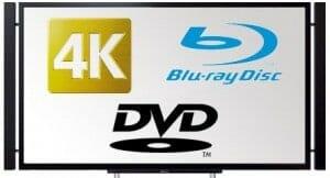 4K DVD Blu-Ray