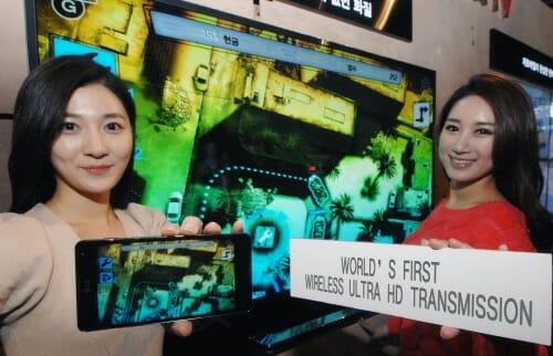Weltweit erste Übertragung von 4K von einem Smartphone auf einen 4K-Fernseher