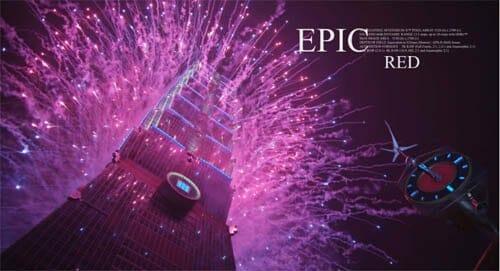 Feuerwerk in Taiwan am Taipei 101 Tower
