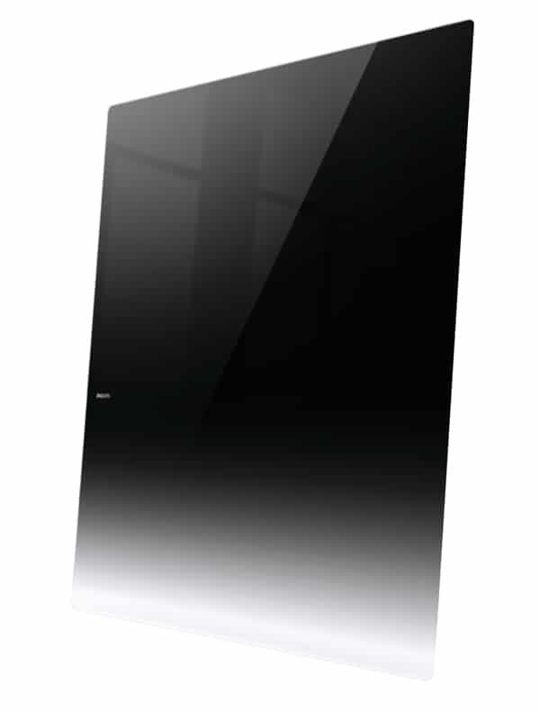 Philips Designline Fernseher angelehnt