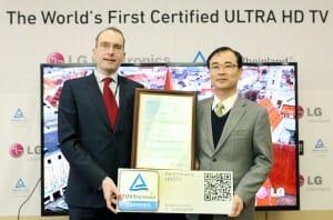 TÜV Ultra HD TV von LG