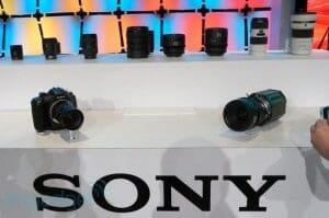 Sonys Prototypen und Linsen auf der NAB Foto: Engadget.com