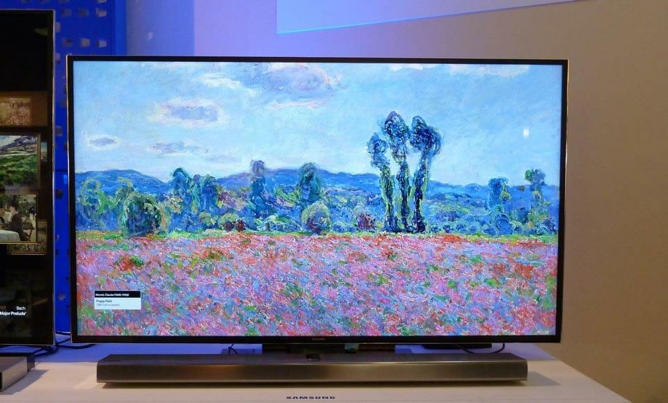 Samsung 4K TV mit 55 Zoll