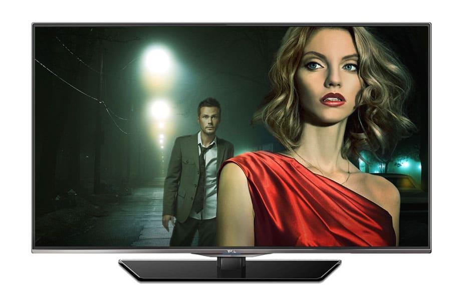 TCL 7E504D 4K Fernseher mit 50 Zoll - Frontansicht