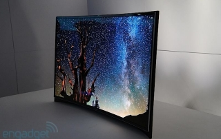 Samsungs geschwungener OLED TV