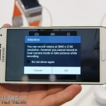 Galaxy Note 3 Frontansicht 4K Videofunktion