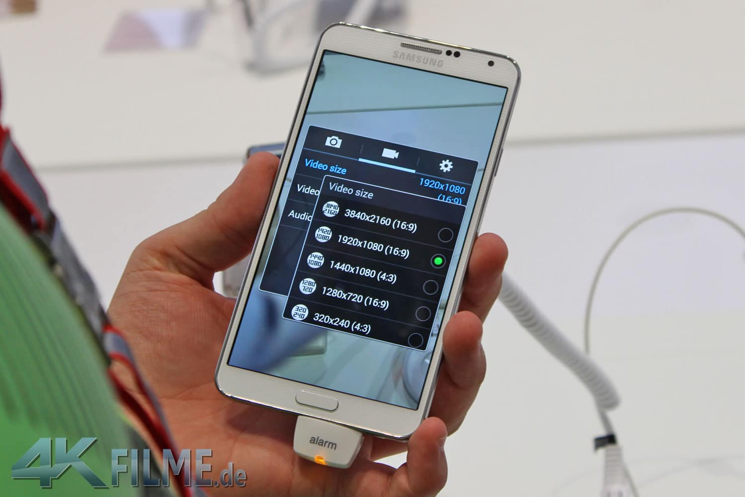 Galaxy Note 3 Frontansicht 4K Videofunktion