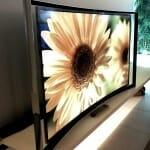 Samsung S9C OLED TV von der Seite