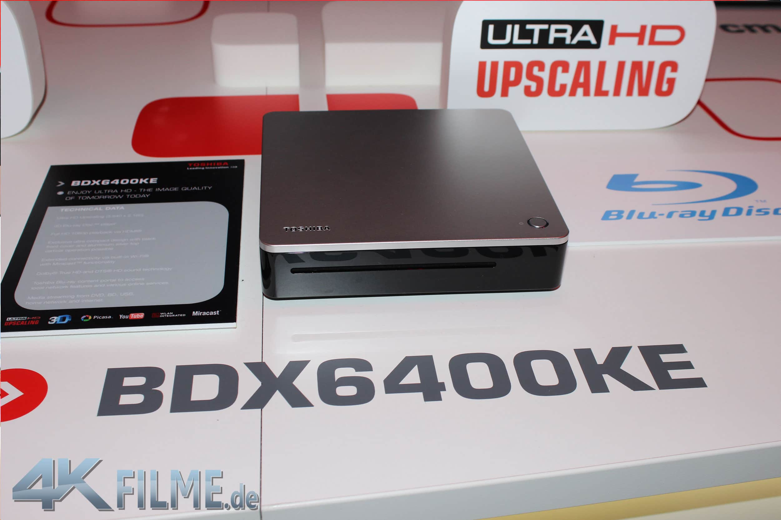 Der Toshiba BDX6400KE Blu Ray Player mit 4K Upscaling