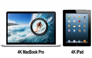 4K MacBook Pro und 4K iPad