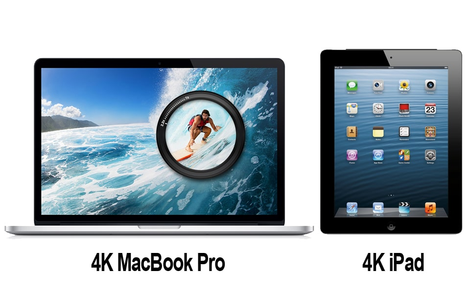 4K MacBook Pro und 4K iPad
