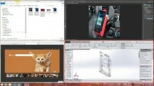Quadratische Anordnung auf dem Desktop