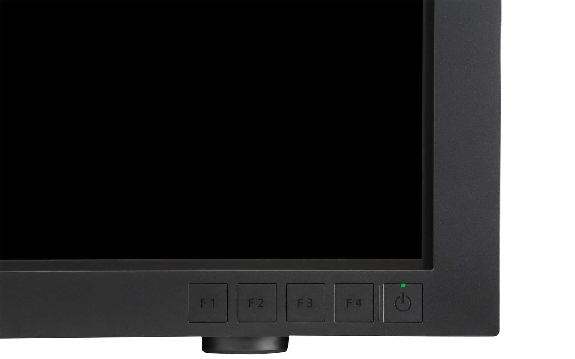 Bedienelemente am Canon DP-V3010 4K Monitor