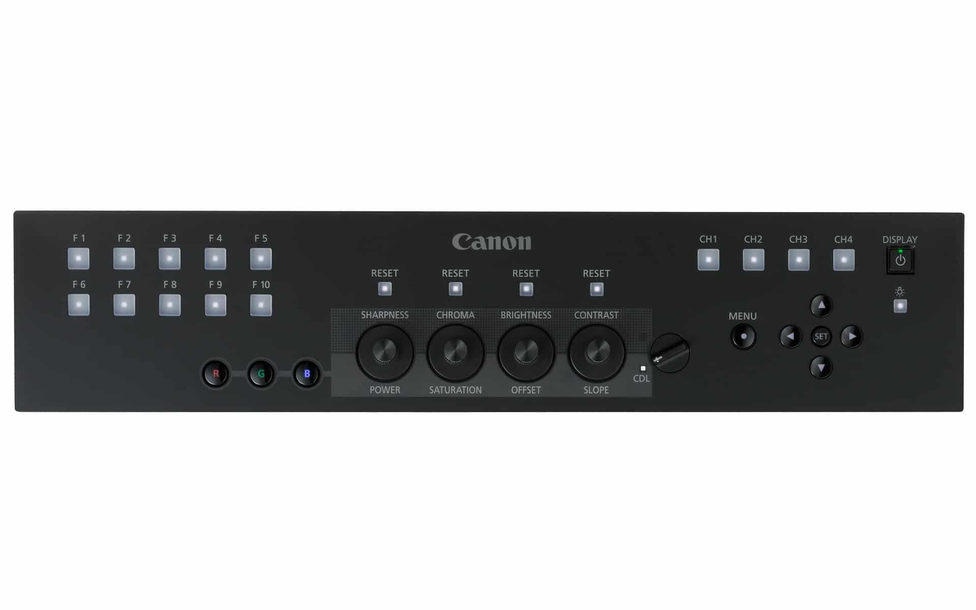 Steuerungselement des Canon DP-V3010 4K Monitors