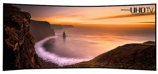 Gebogener Ultra HD TV mit 105 Zoll von Samsung