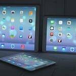 iPad Pro mit 12.9 Zoll neben einem regulären Ipad und einem iPad Mini