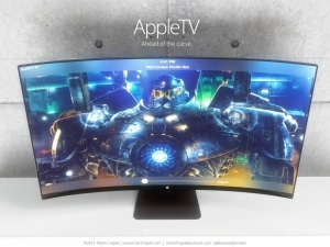 Apple iTV Konzept mit gebogenem Display