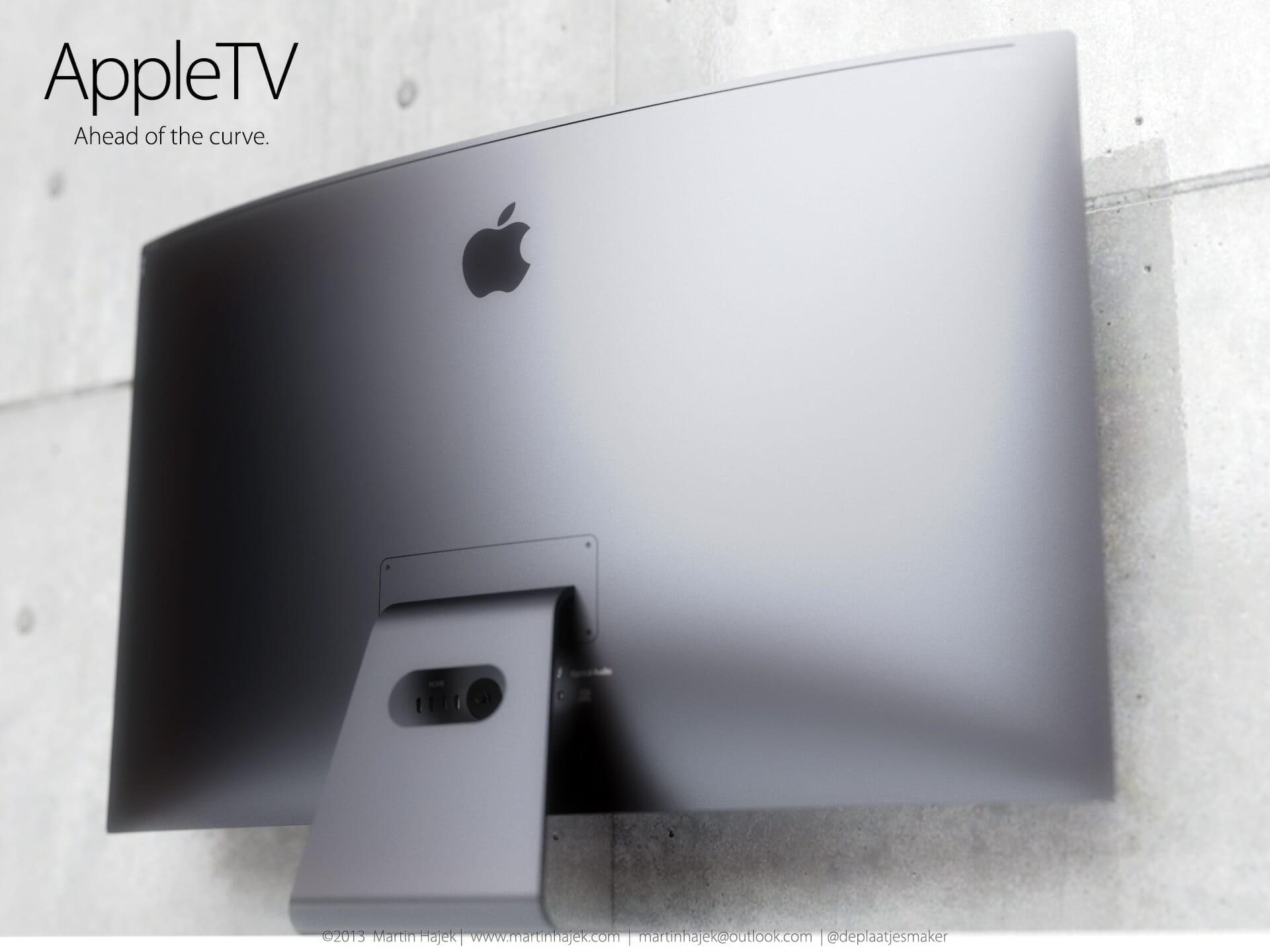 Apple iTV Konzept mit gebogenem Display