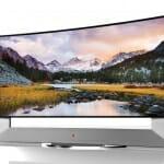 LG gebogener Ultra HD TV mit 105 Zoll