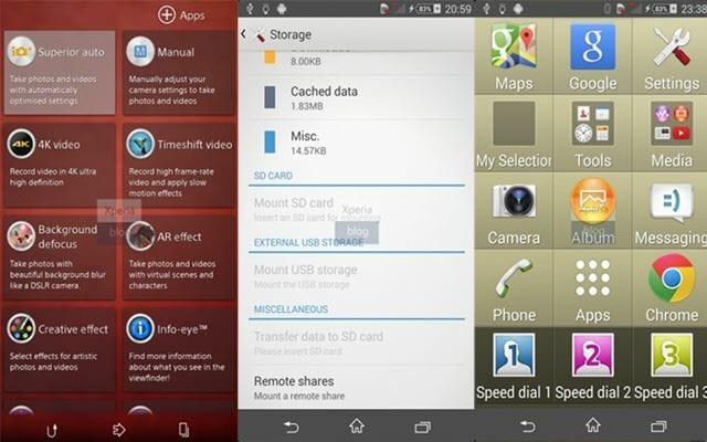 Bedienoberfläche des Android 4.4.2 KitKat mit 4K Aufnahme