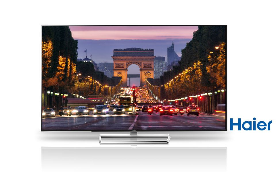 Haier H7000 4K Fernseher mit modernem Design und 3D Wiedergabe