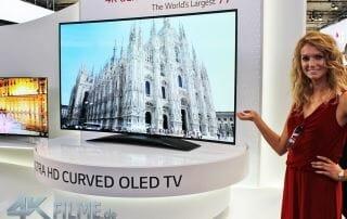 Der gekrümmte OLED 4K TV mit 77 Zoll von LG