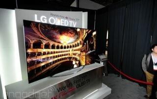LG 77 Inch flexible OLED 4K TV