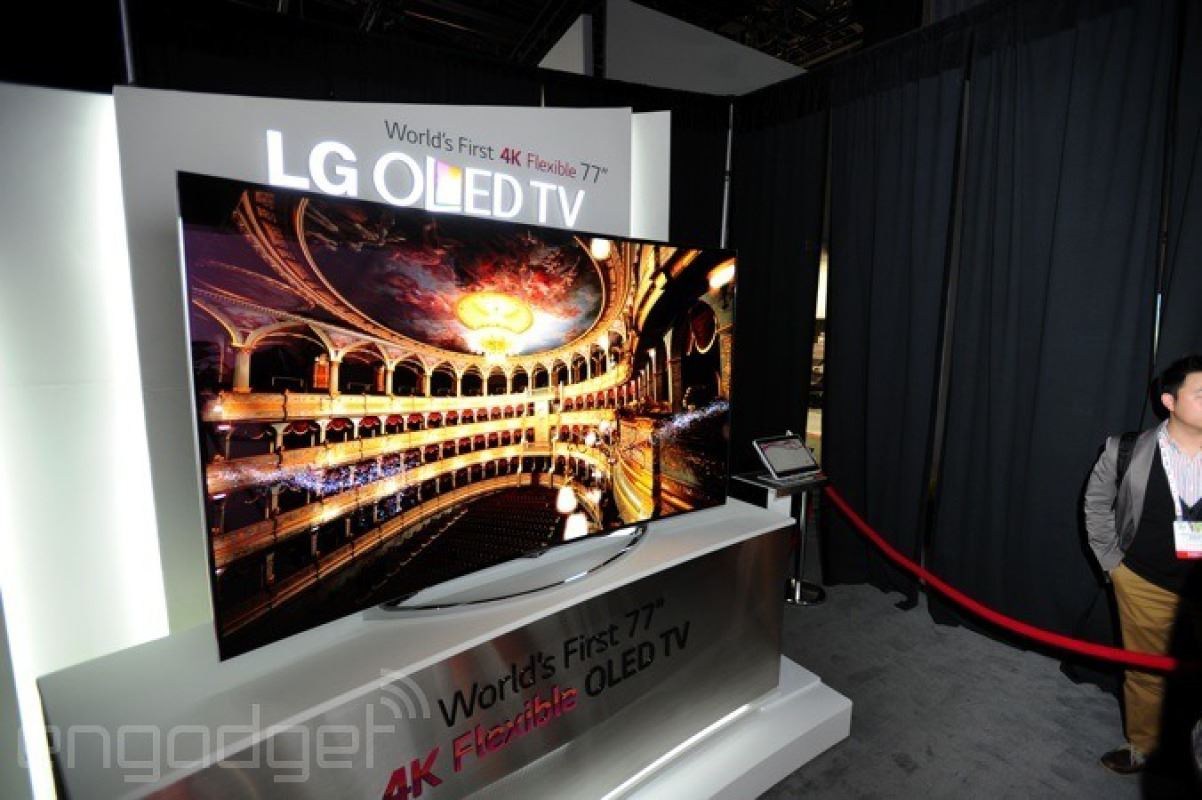 LG 77 Inch flexible OLED 4K TV