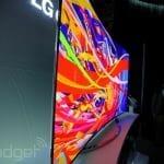 LG 77 Inch flexible OLED 4K TV Side