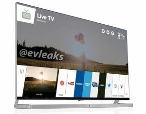 LG webOS Bedienoberfläche