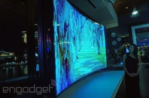 Samsung 85 Inch flexible 4K TV