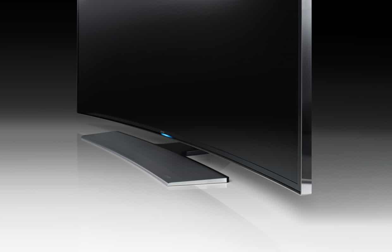 Das neue curved Design der Samsung UHD TVs