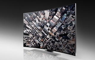 Samsung HU8590 Serie mit gebogenem Ultra HD Display