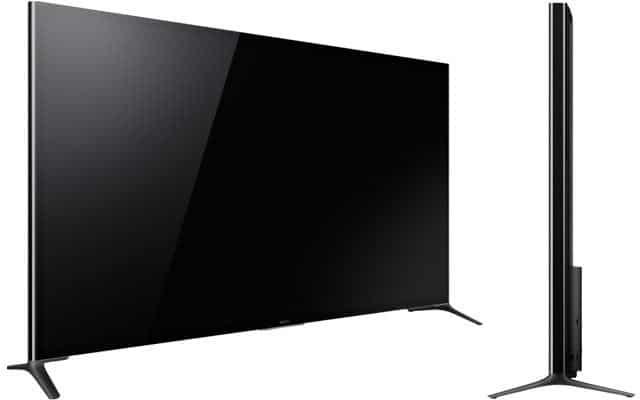 Sony X95 4K Fernseher von der Seite