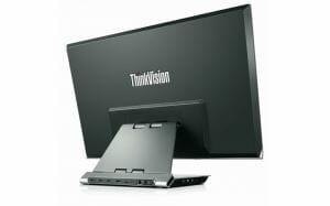 ThinkVision 28 von hinten mit Anschlüssen