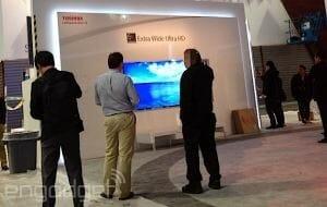 Erstes Bild von Toshibas 5K Ultra Wide TV