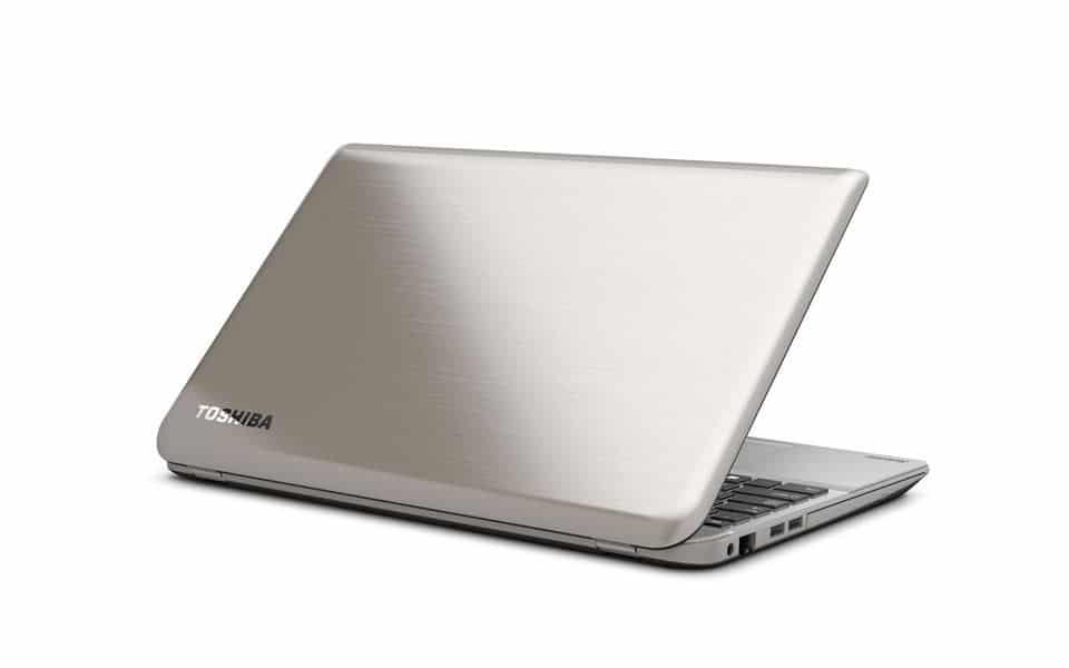 Toshiba P50t Ultra HD Laptop von hinten