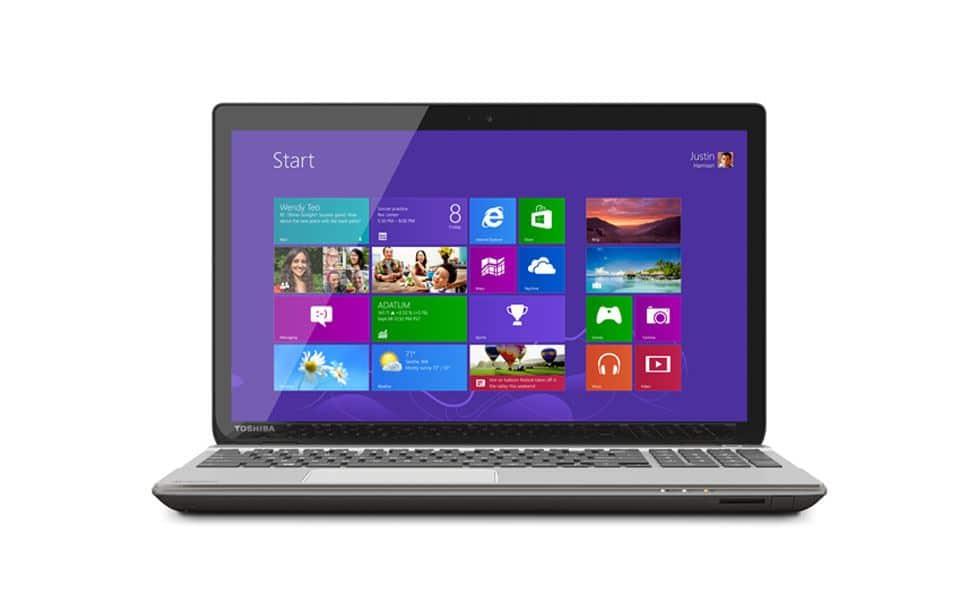 Toshiba P50t 4K Laptop zugeklappt