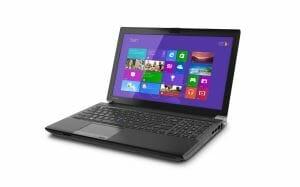 Toshiba W50 4K Notebook von der Seite