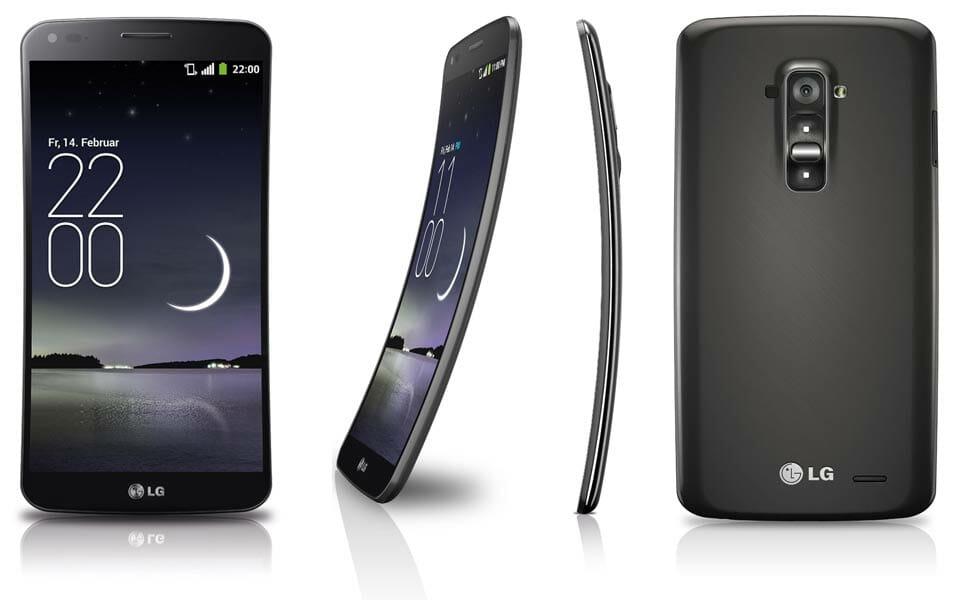 LG G Flex gebogenes OLED Display