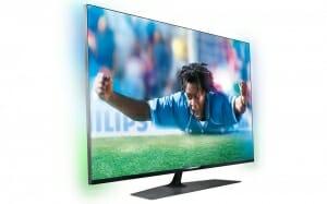 Seitenansicht Philips 7809 Ultra HD TV