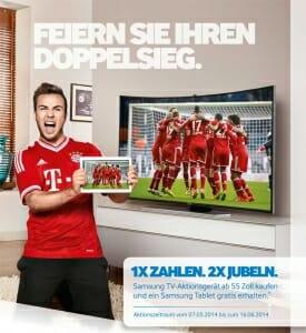 Promo Plakat Doppelsieg Aktion Samsung