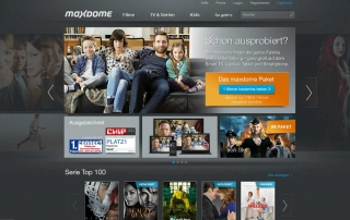 Screenshot Maxdome.de