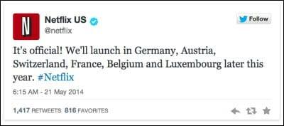 Netflix startet in Deutschland
