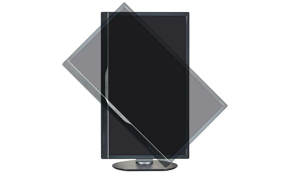 Philips 288P6LJEB 28 Zoll 4K Monitor von der Seite