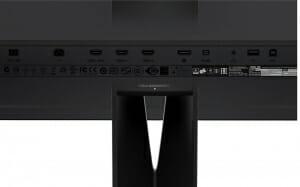 Alle Anschlüsse des Asus PA328Q inkl. HDMI 2.0 und Displayport