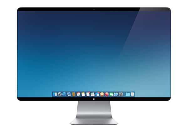 Apple 4K Monitor Mockup