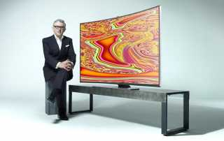 Miguel Chevalier uns Samsung Curved UHD TV