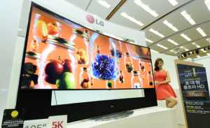 LG 105 Zoll Curved 4K TV